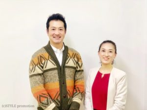 北京オリンピックメダリストでスポーツキャスターの宮下純一さんと焼酎女子・焼酎スタイリストyukiko